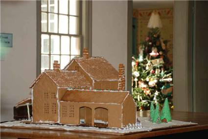 Gingerbread replica of Squire's Tavern (back)